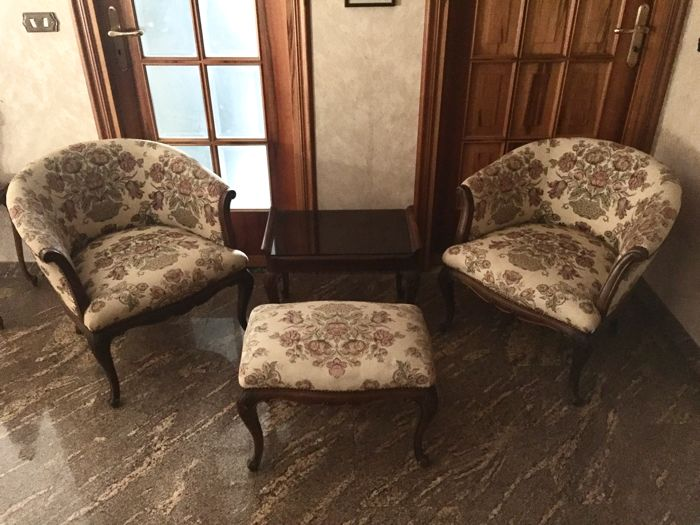 Antique mahogany 4-piece suite - early 1900 - Italy