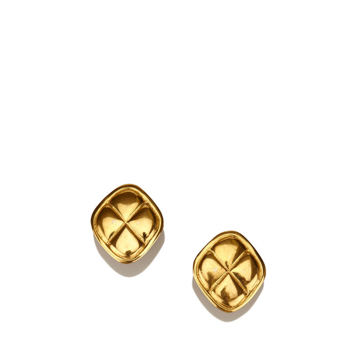 Chanel - Gold-Tone Clip-On Earrings