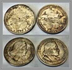 USA - Half Dollar 1892 & 1893 'Columbian Exposition' (lot of 2 coins) - silver