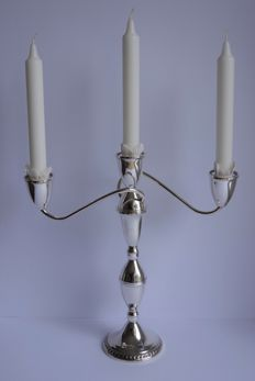 Duchin Creation - large silver 3-light candle stick, United States, double usage, 20th century