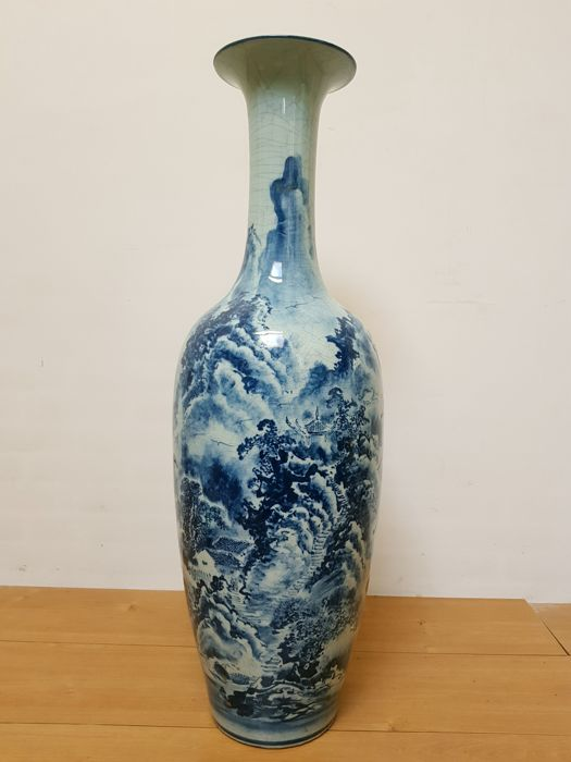 Large porcelain vase - China - end 20th century (95 cm)