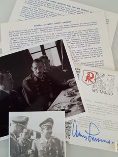 Royal Air Force Museum - WWII Third Reich Adolf Galland Autograph incl COA - 1975