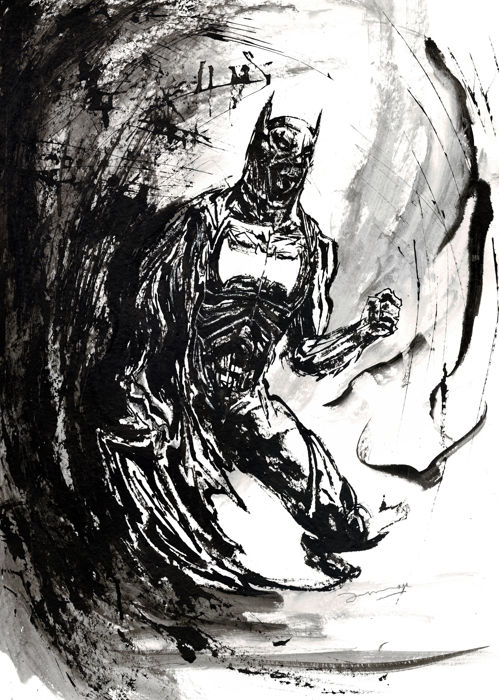 Batman By Arnau Casas - Original Painting