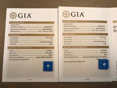 GIA 2x 0.30 D IF matching pair briljant geslepen / 0.60 ct totaal