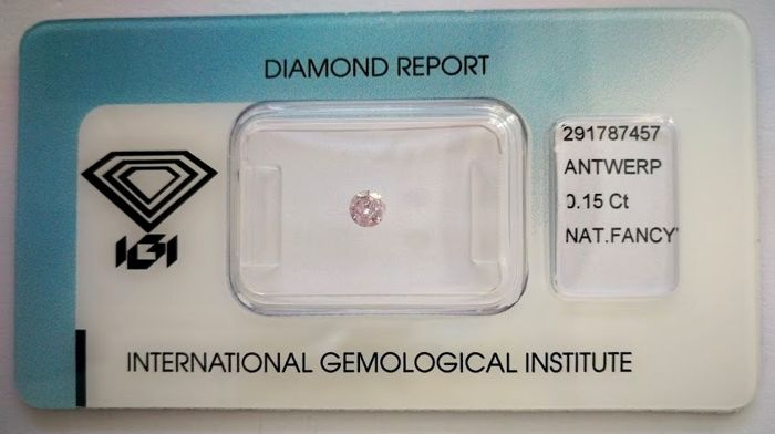 Natural Fancy Pink Diamond 0.15 ct  with IGI cert  ***No minimum price***