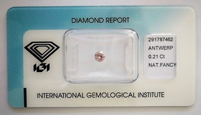 Natural Fancy Pink Diamond 0.21 ct  with IGI cert  ***No minimum price***