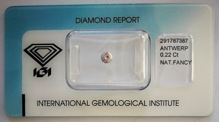 Natural Fancy Pink Diamond 0.22 ct  with IGI cert  ***No minimum price***