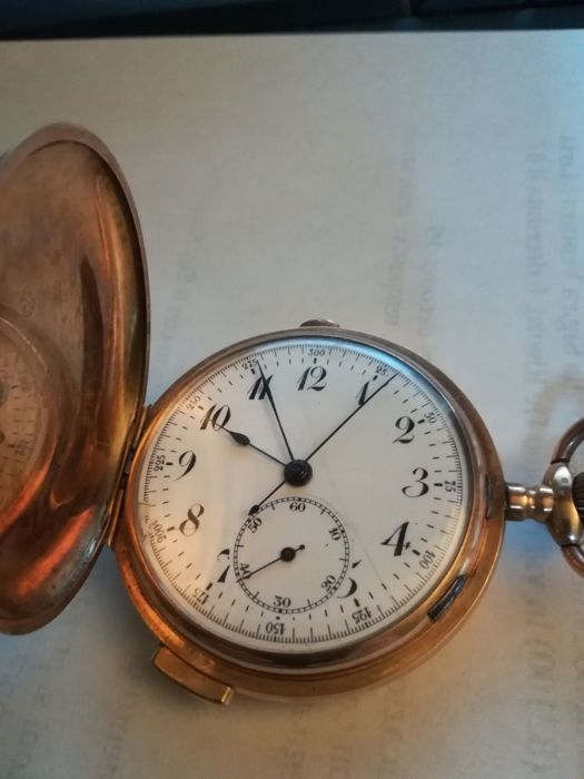 Quarter repeater and chronograph - Pocket watch - Men's - 1850–1900