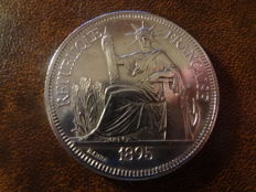 French Indochina - Piastre de Commerce 1895 A (Paris) - silver