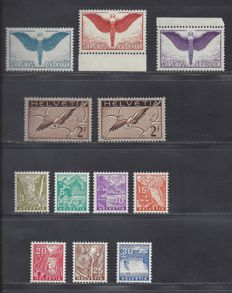 Switzerland 1924/1934 – Selection – Michel 189/191x, 245x, 245y and 270/276
