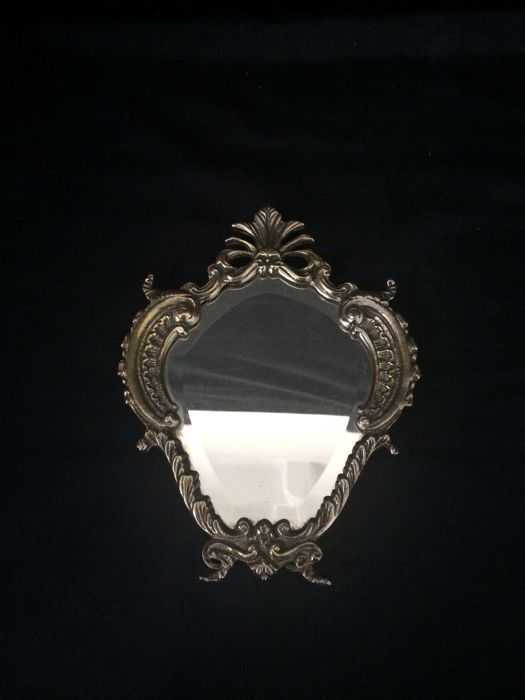 Antique English silver mirror - Early 20th Century