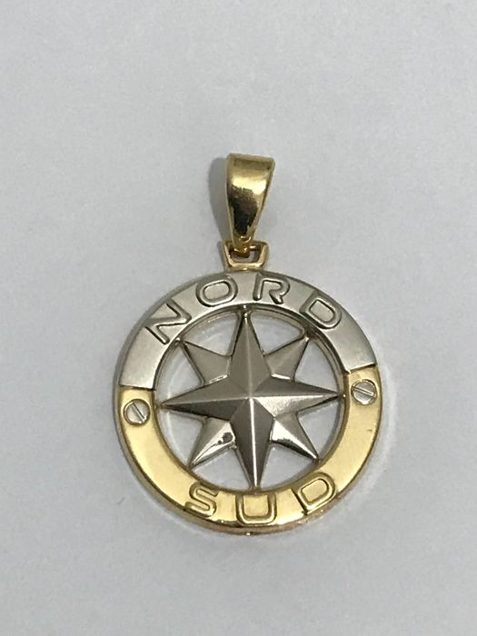 Gold windrose pendant