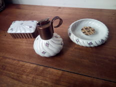 EVANS Fine China - Vintage smoking set - Ceramics and brass - 20th century