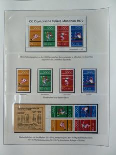 Theme, Olympic Games 1972 in Munich - Collection Federal Republic of Germany