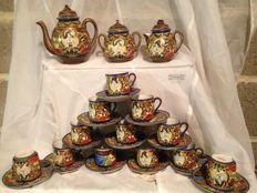 Satsuma service set, 26 pieces - Japan - circa 1950–'55