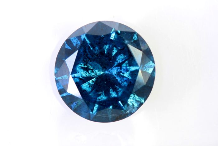 Fancy Dark Blue Diamond – 1.38 ct – I1 – ( Color Treated  ) – * No Reserve Price *