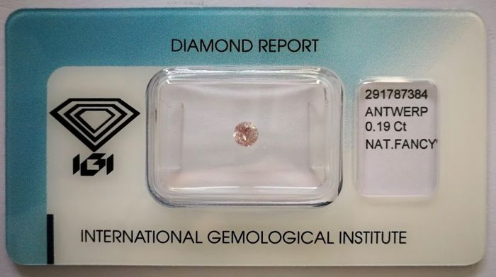 Natural Fancy Pink Diamond 0.19 ct  with IGI cert  ***No minimum price***