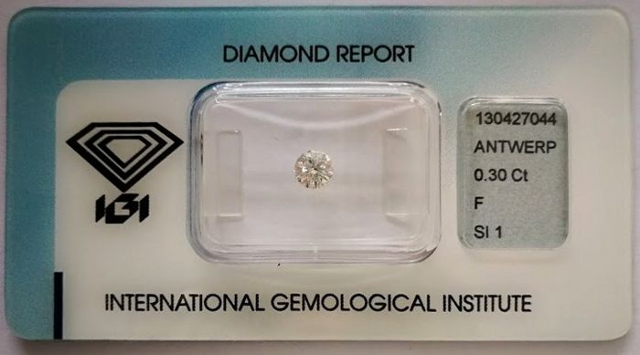 Brilliant cut diamond 0.30 ct  F SI1 ***Low Reserve Price***
