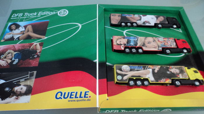 Schuco - Scale 1/87-1/90 - Lot of 4 model cars of an important collection and 1 lorry set