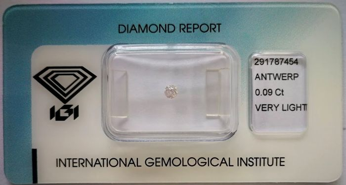 Natural Fancy Pink Diamond 0.09 ct  with IGI cert  ***No minimum price***