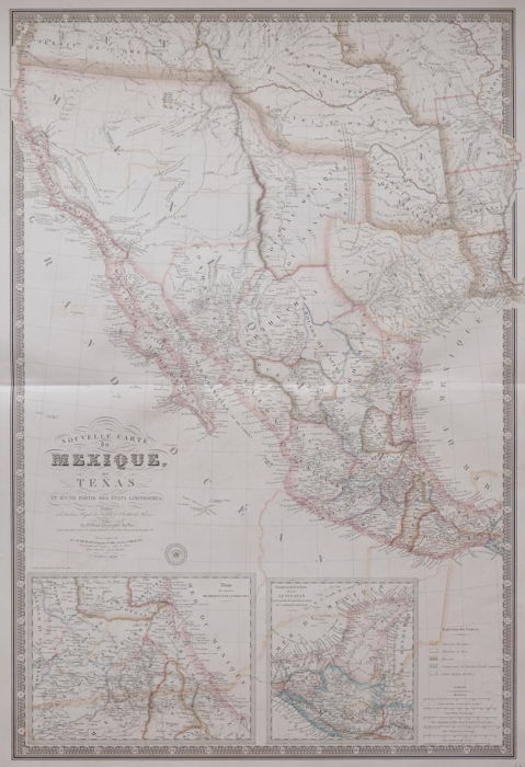 America, Texas, Californie, Mexico; Adrien Hubert Brue - Nouvelle Carte du Mexique, du Texas - 1840