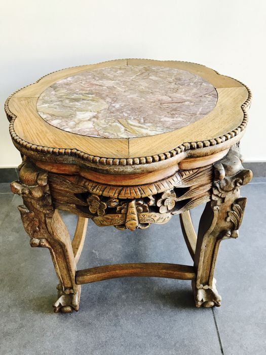 Chinese table made of exotic hardwood - China - Early 20th century