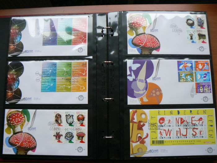 Netherlands 2008/2011 - Collection FDCs in Importa album - NVPH E563 / E642