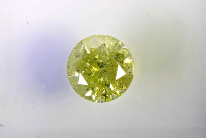 AIG Diamant - 0.63 ct - Fancy Light Yellow , I2