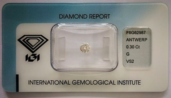 Brilliant cut diamond 0.30 ct  G VS2  ***Low Reserve Price***