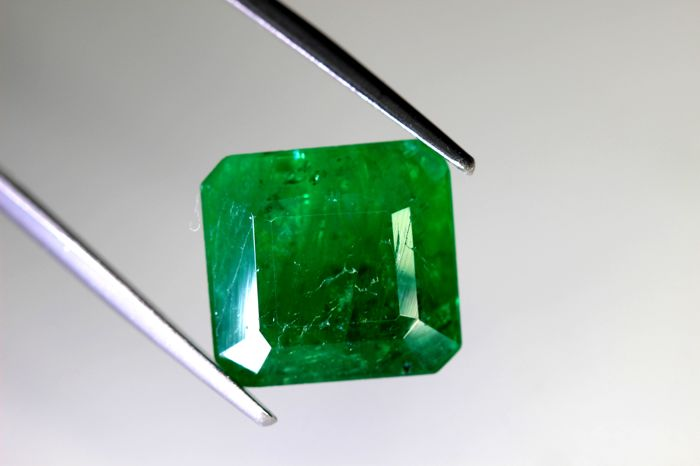 Green Emerald - 7.97 ct