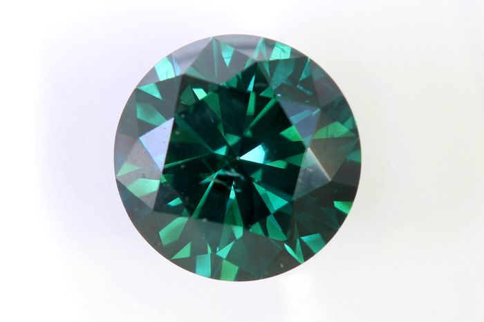 Fancy Dark Bluish Green Diamond - 1.31 ct - SI2