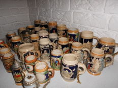 Collection of 30 German beer mugs from a private collection
