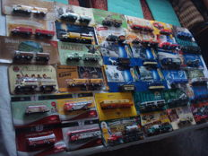 A variety of brands - brewery trucks, advertising trucks,  a lot of vintage ones and rarities, in original packaging, 72 pieces