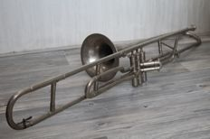 Valve trombone - H. Schenkelaars, Eindhoven the Netherlands - Supplier for the army, 20th century