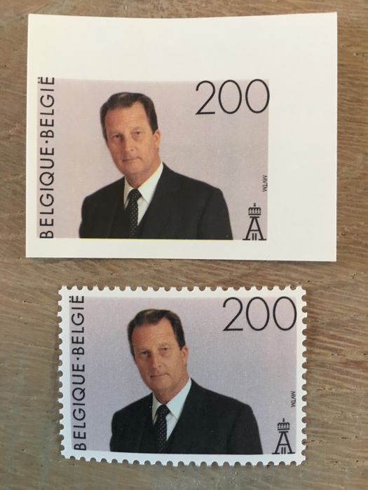 Belgium 1995 - Year sets perforated and imperforated with back number