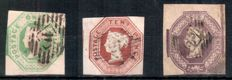 Great Britain 1847/54 - Queen Victoria, embossed issues.