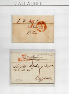 Spain 1817/1839 - Collection on the postal history of Valladolid.