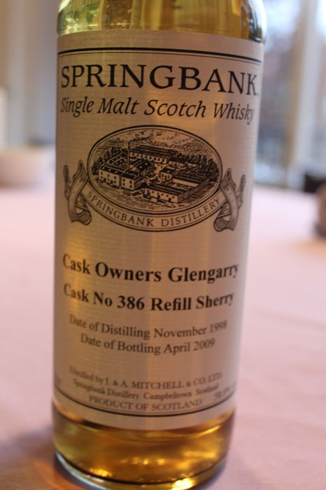Springbank, 1998 Refill Sherry- Springbank- 11 Years Old