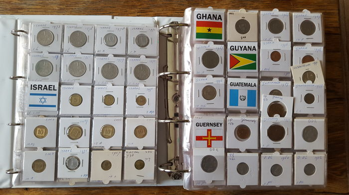 World - Collection of coins with countries G and I in 2 binders (656 pieces)