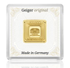 Geiger - 5 grams - gold bar - 999 fine gold - in a solid capsule - anti-forgery UV light protection - with certificate and serial number