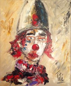 Laurent Pate (21th Century) - Blanc comme un clown