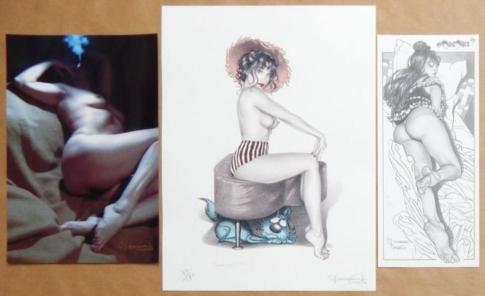 Pin-up; 2 affiches et 1 photo de Giovanna Casotto - 2012