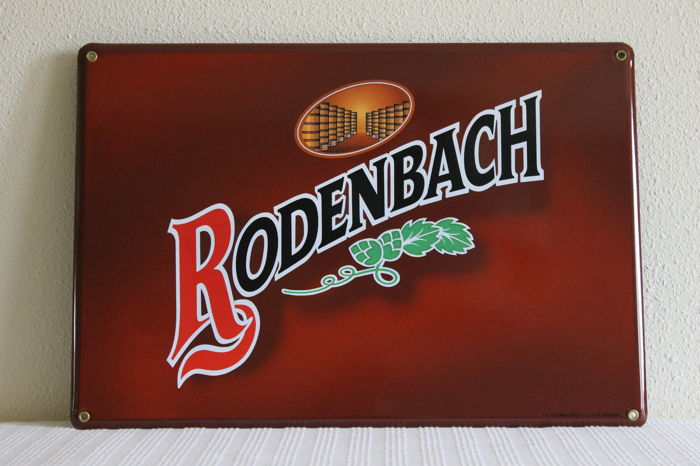 Original Enamel advertising sign for the Belgian beer brand Rodenbach