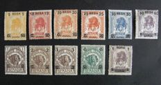 Somalia 1906-1907 - complete series with mint values, overprinted - Unif. No. 34-44