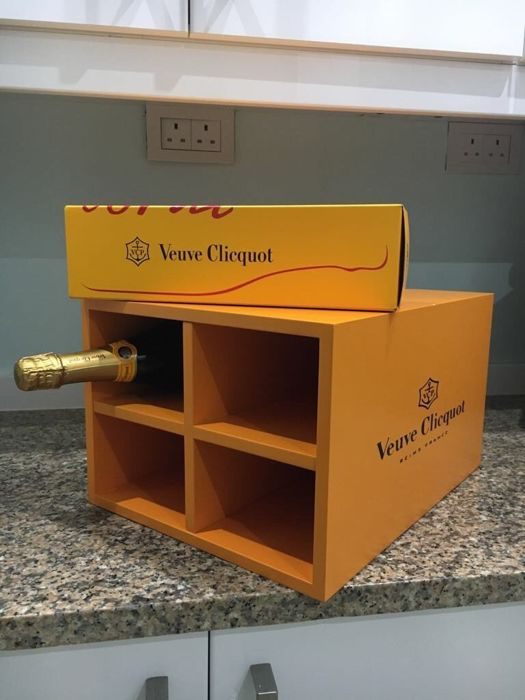 Veuve Clicquot Champagne Storage Rack Crate, holds 4 bottles