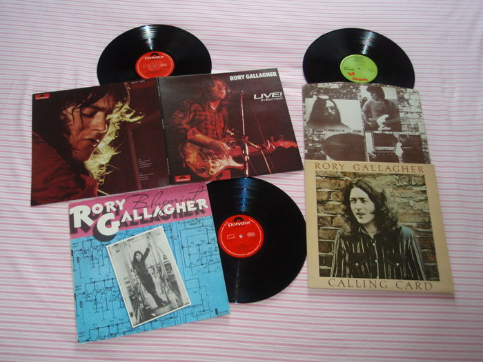 Rory Gallagher, A Super Collection Of Three Original Lps: Live! In Europe + Blueprint + Calling Card!