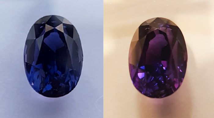 Deep Blue-Purple Color Change Sapphire - 1.57 ct