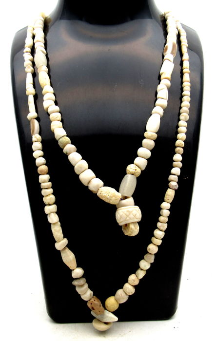 Pair of Ancient Indus Valley Harappa Necklace with Stone Beads - 510-515mm