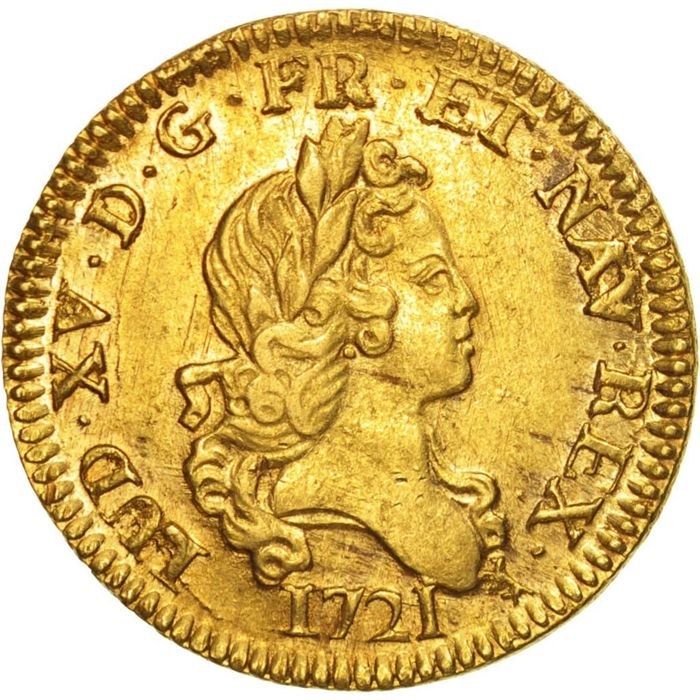 France – Louis XV (1715-1774) – Louis d'or aux 2L 1721 A (Paris) – gold