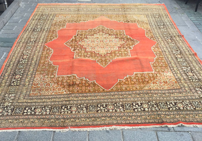 19th Century Persian Probably Tebriz Area Large and Decorative Rug